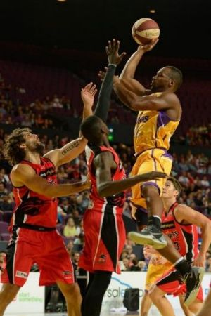 Sydney Kings import Sam Young, who played strongly this season after a 249-game career in the NBA.