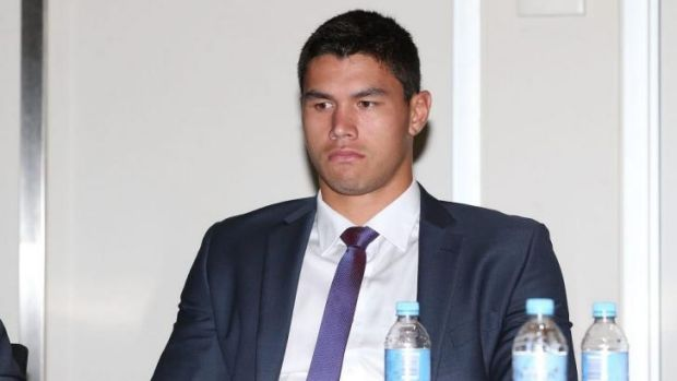 The Storm's Jordan McLean at the judiciary.
