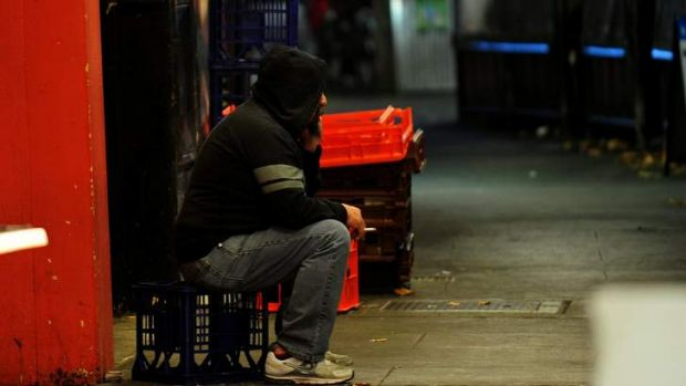 Sleeping rough: Social workers are seeing an influx of people arriving in Canberra with no money.