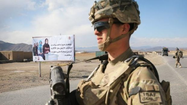 Campaign support: US forces are helping to beef up security for this weekend's Afghan elections.
