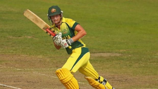 Meg Lanning  bats during the ICC Women's World Twenty20  1st Semi-Final match between Australia Women and West Indies ...