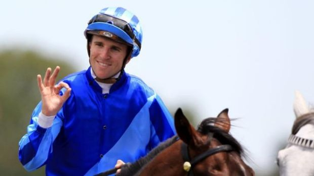 Jockey Nathan Berry.