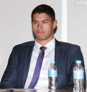 The Storm's Jordan McLean at the judiciary on Wednesday.