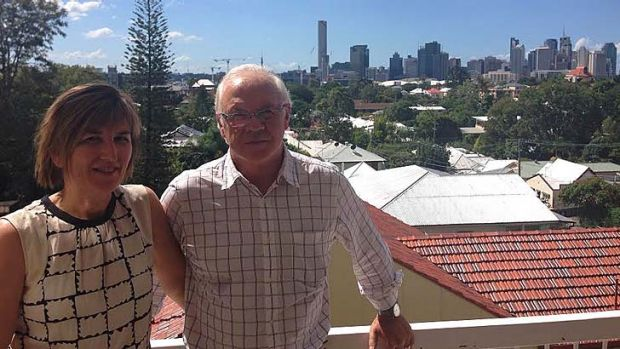 Di Cameron and Jim Reeves on the balcony of their Highgate Hill home. If a development next door is given the go ahead, ...