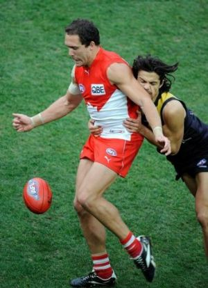Luke Ablett during his playing days in 2009.