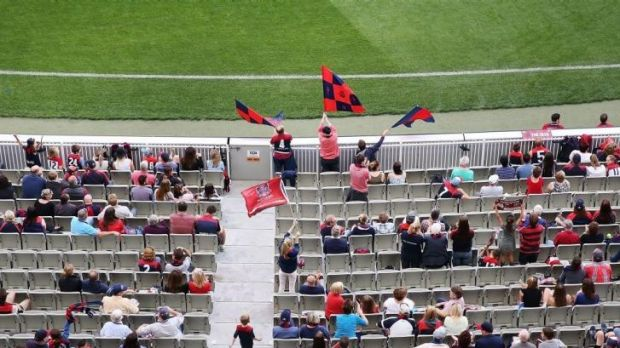 Hope resides in the committed young supporters of the Melbourne cheer squad, one of its older members says.