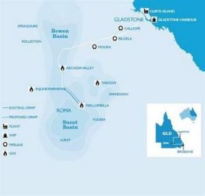 CSG links from Surat Basin to Gladstone Harbour
