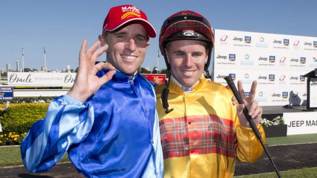 Inseparable: Jockey Nathan Berry and his twin brother Tommy.