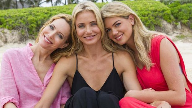 Leslie Mann, Cameron Diaz and Kate Upton in <i>The Other Woman</i>.
