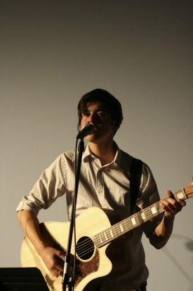 Calum from 5 seconds of summer Performing at Norwest Christian College in 2012.