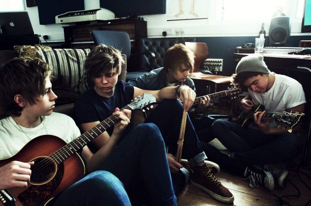 "Australian teen band ""5 Seconds of Summer"" publicity image."