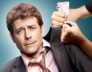 On screen:  Greg Kinnear from <i>Rake.</i>