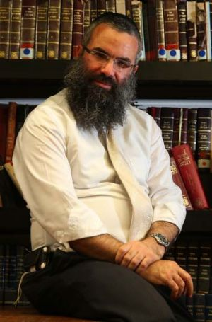 """Being Jewish is a big part of my life, and I am proud of it"": Rabbi Dovid Slavin."