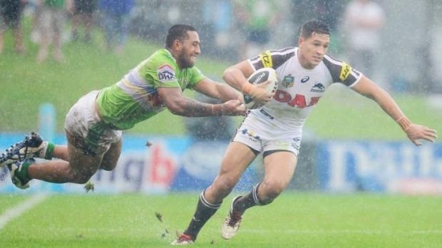 Debutant Dallin Watene-Zelezniak was impressive for Penrith against Canberra.