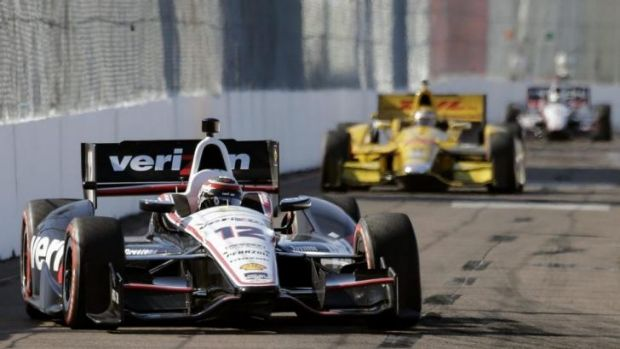 Winning drive: WIll Power's IndyCar victory wasn't without incident.