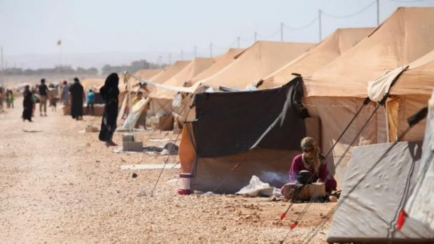 The Zaatari refugee camp was set up nearly two years ago.