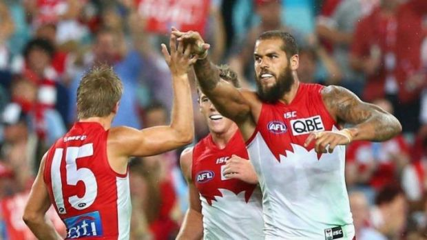 On the way up: Lance Franklin has kicked seven goals in three games.