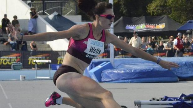 Lauren Wells won the 400m hurdles final at the Australian Athletics Championships.