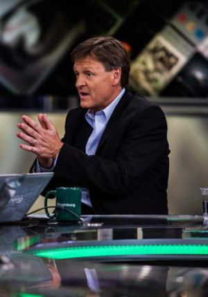 "Causing a stir: Michael Lewis, author of ""Flash Boys,."