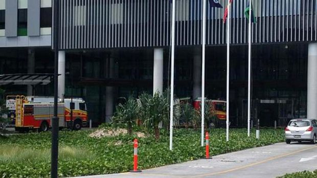 A car has ploughed into Gold Coast University Hospital.
