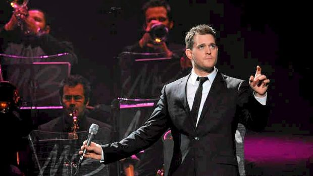 Michael Buble performing in Melbourne in 2008.