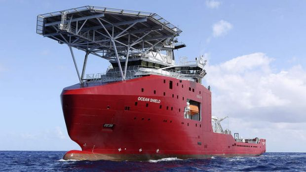 The Australian vessel Ocean Shield is towing a pinger locator to try to locate the black box from MH370.