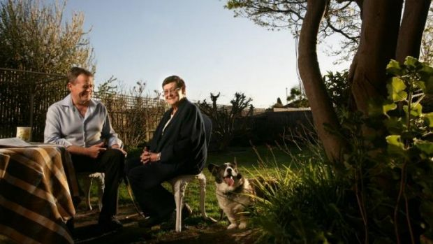 Opposition Leader Bill Shorten pictured with his mother, Ann, at the family home in Chadstone in 2009.