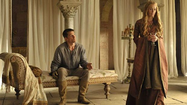Download frenzy over <i>Game of Thrones</i> ... Jamie and Cersei Lannister reunited in season four.