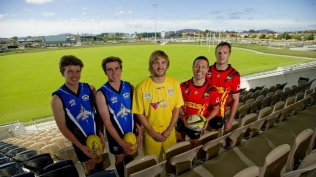 Joseph Looby, Zach Barton-Browne and of the Gungahlin Jets James Perry of Canberra City, Lincoln Withers  and Dave ...