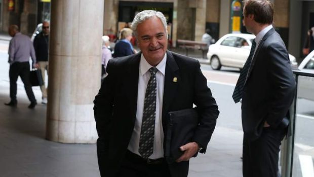 Former Water Minister Phillip Costa arrives at ICAC on Tuesday.
