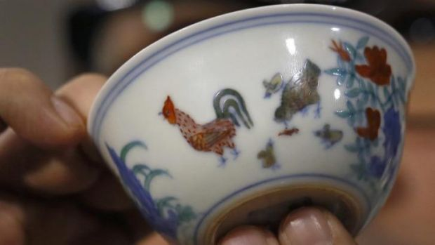 "Allegorical: The Meiyingtang ""Chicken Cup"", from the Chinese Ming Dynasty (1368-1644), sold for $39 million."