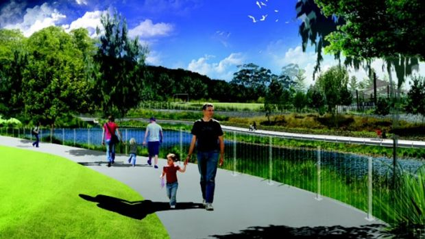 An artist impression of the Botanic Gardens expansion at Mt Coot-tha.