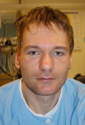 Norwegian police distributed this image of the man who was found in a bad condition in the snow in Oslo.
