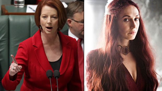 Australia's own 'Red Woman' ... Julia Gillard admitting to feeling the Iron Throne power of taking office as PM.