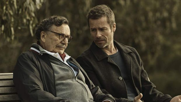 Equals: Justice Loader (Barry Humphries) and Jack Irish (Guy Pearce).
