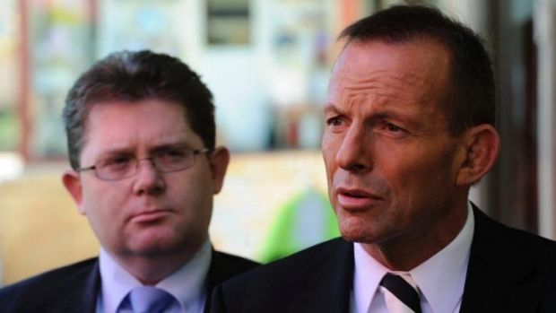 Tony Abbott with Victorian Senator Scott Ryan, parliamentary secretary for education. The federal government may axe ...