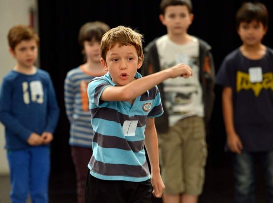 Riley Flood- Les at the  Miserables boys' auditions.