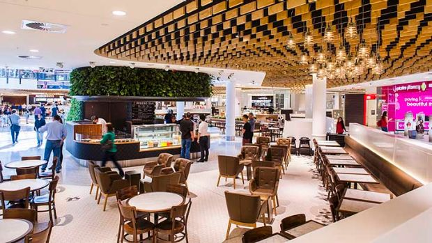 The food court at the ACT's Canberra Centre, refurbished in 2013.