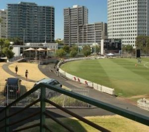 Home away from home: Junction Oval, St Kilda.