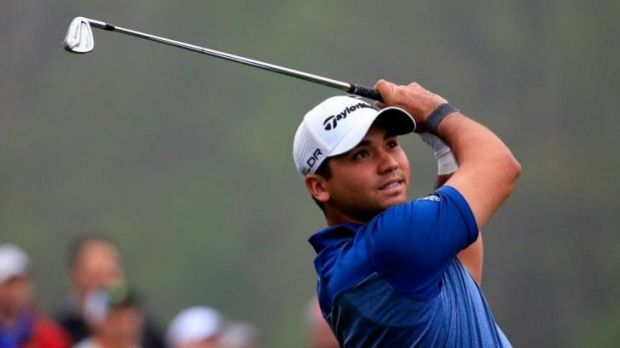 Masters apprentice: Jason Day warms up for the Masters.