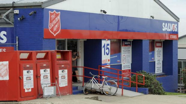 New security measures at the Salvation Army store in Fyshwick. Security cameras have been installed to help prevent ...