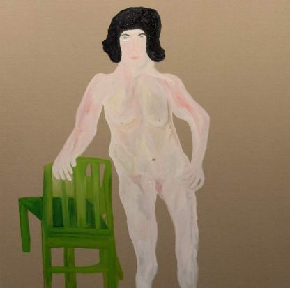 """Work by Darren McDonald titled """"Painter, Model with Chair""""."""