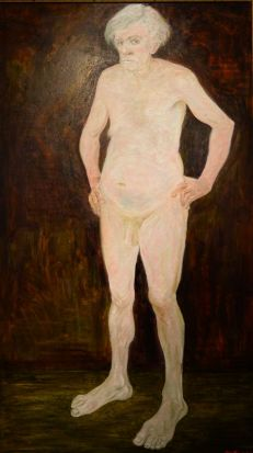 """Work by Ted May titled """"The Emporer's New Clothes""""."""