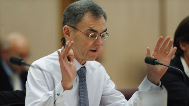 Awkward questions: ASIC chief Greg Medcraft at the Senate inquiry in Canberra.