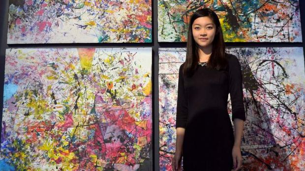 Cassandra Min, from Haileybury College, with her work Symphony Series.