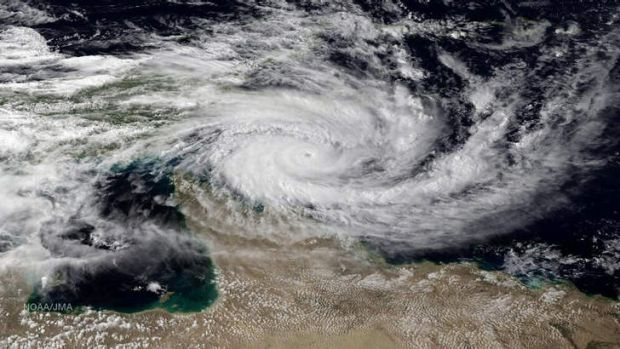 Cyclone Ita sits menacingly over north Queensland.