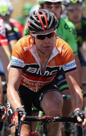 Cadel Evans during the Tour Down Under in January 24, 2014.