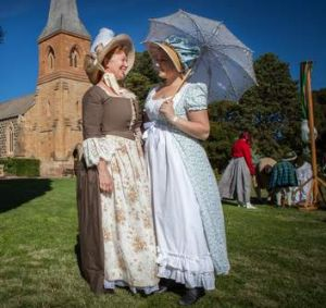 The Jane Austen Festival is on all weekend in the grounds of the Australian National University.