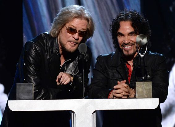Inductees Daryl Hall (left) and John Oates of Hall and Oates.