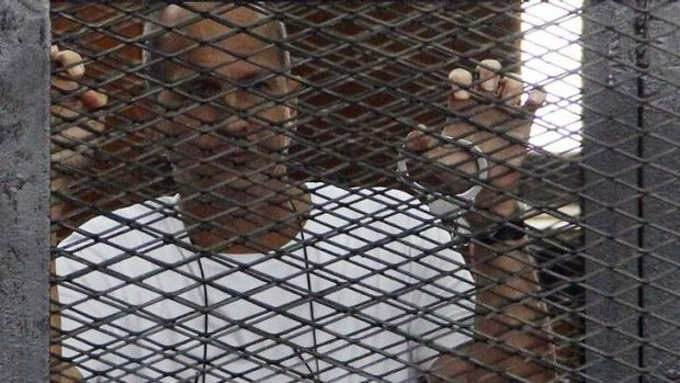 Trapped: Peter Greste.